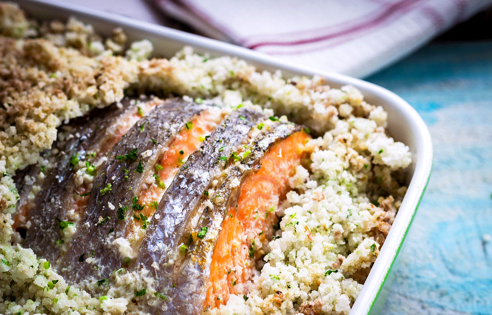 7. Cilantro Salt Crusted Salmon Recipe