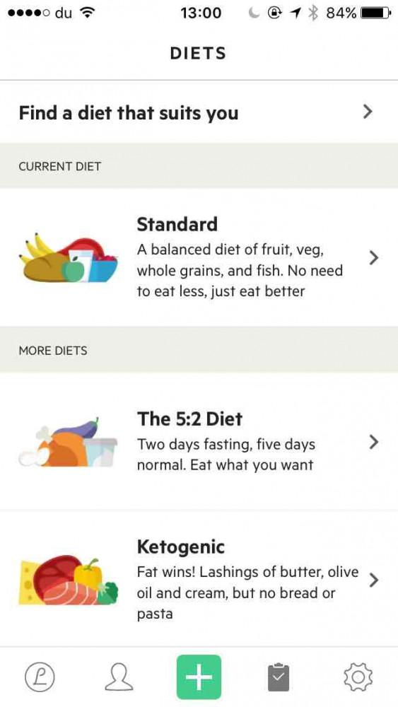 Lifesum app screenshot