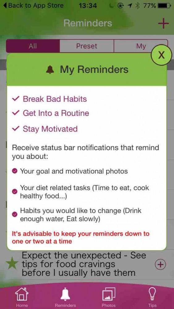 My Diet Coach app screenshot