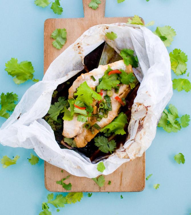 19. Thai Fish Fillets Steamed in a Bag