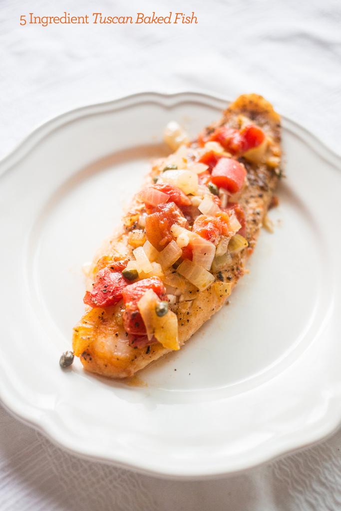 6. 5 Ingredient Tuscan Baked Fish Recipe